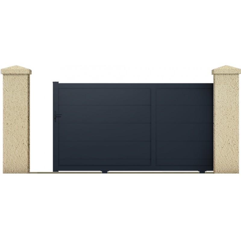 Coulissant naiade portail cloture de france for Maine cloture portail alu
