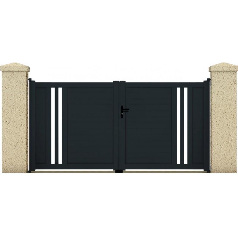 Portail ceres portail cloture de france for Maine cloture portail alu
