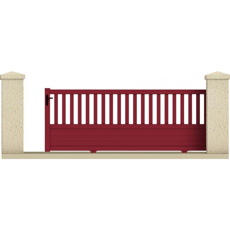 Coulissant pluton portail cloture de france for Portail de cloture coulissant
